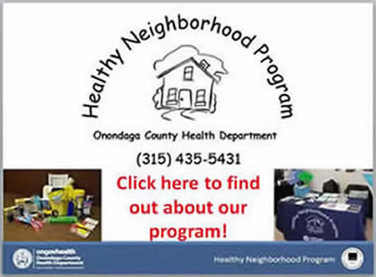 Click here for information about the Healthy Neighborhoods Program (PDF)