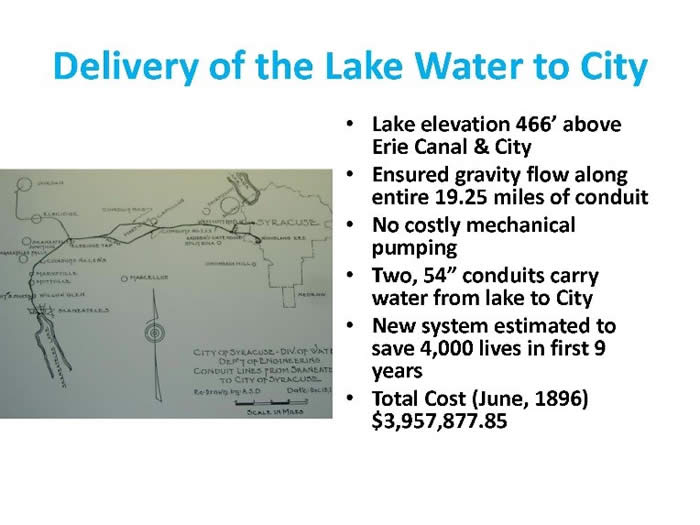 Delivery of Lake Water to City