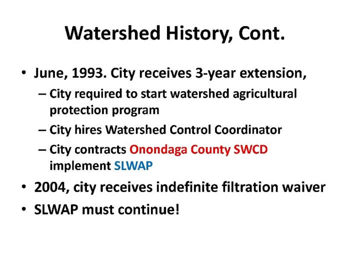 Watershed History