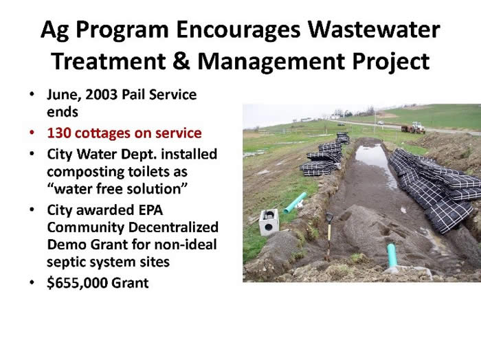 Encourages Wastewater Treatment