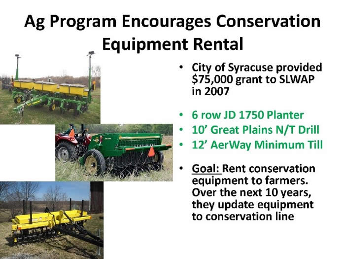 Ag encourages conservation equip rental
