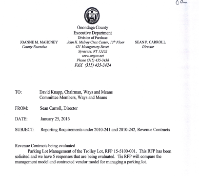 revenue contract report