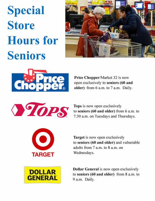 Store Hours for Seniors