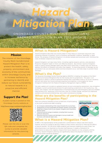 Hazard Mitigation Plan brochure screenshot