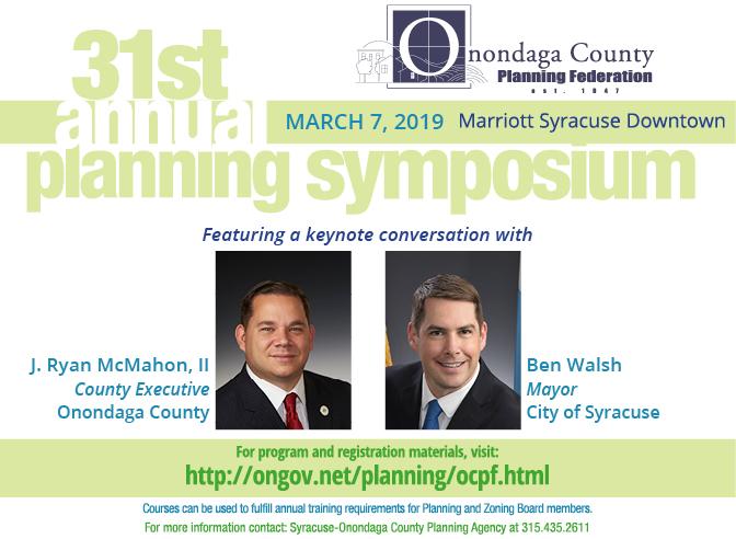 Onondaga County Planning Federation Annual Symposium