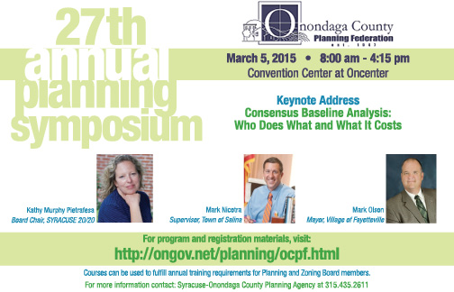 27th Annual Planning Symposium, March 5, 2015