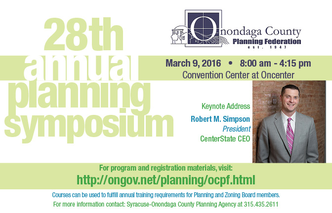 Onondaga County Planning Federation 28th Annual Symposium