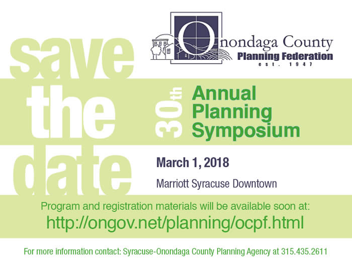 2018 Annual Planning Symposium Save the Date