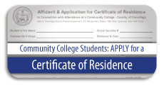 Certificate of Residence Application and Instructions