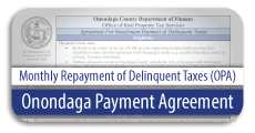 Onondaga Payment Agreement Form for Repayment of Delinquent Property Taxes
