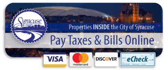Pay Taxes and Bills for properties inside the City of Syracuse