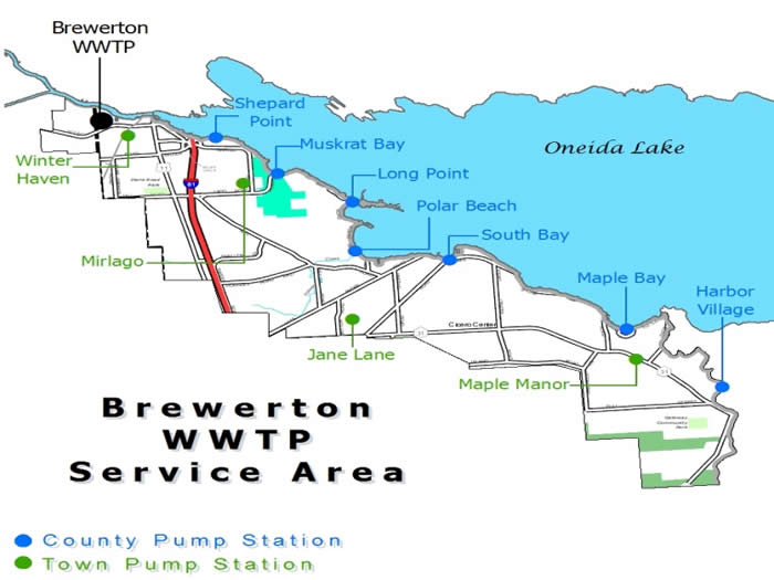 Brewerton WPCP Service Area Map