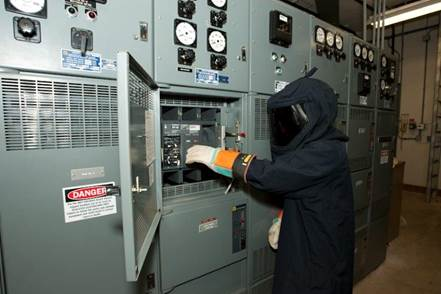 Worker on Electrical Panel